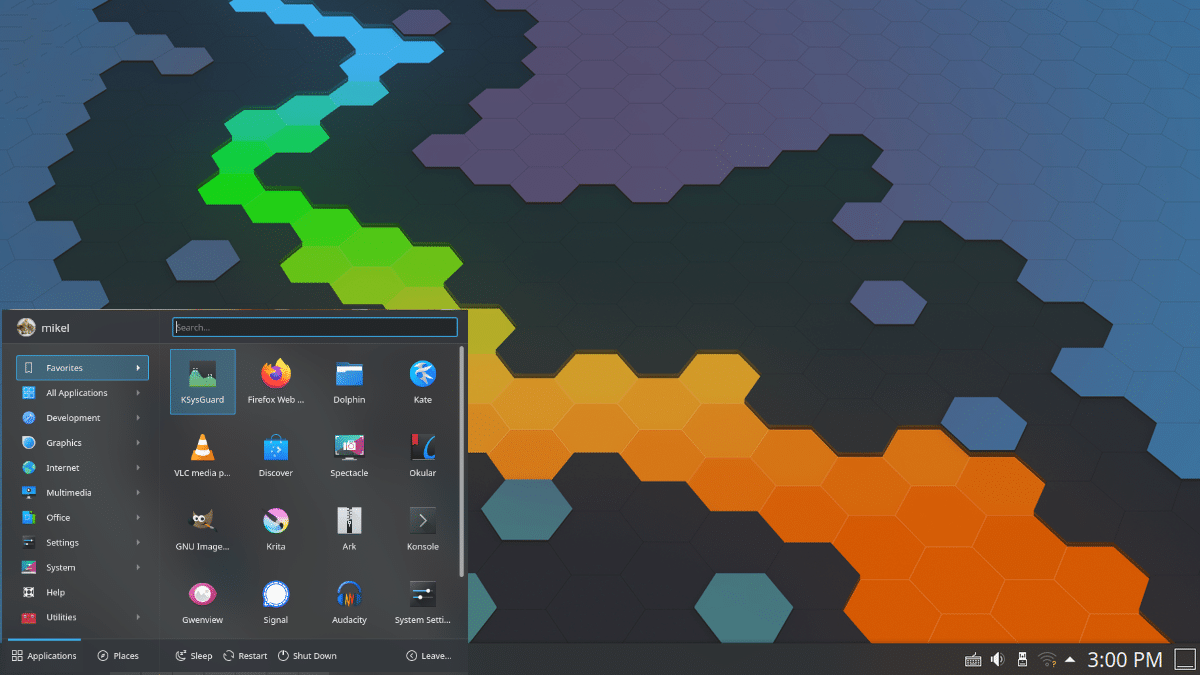 Próximo Kickoff en el escritorio KDE