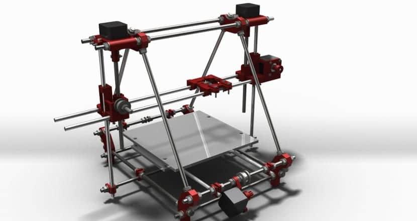 Modelo Prusa de Impresora 3D