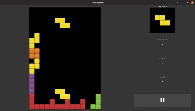 Quadrapassel es un clon de Tetris para Linux