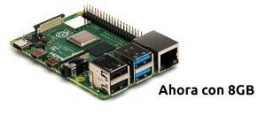 Raspberry Pi 4 con 8GB