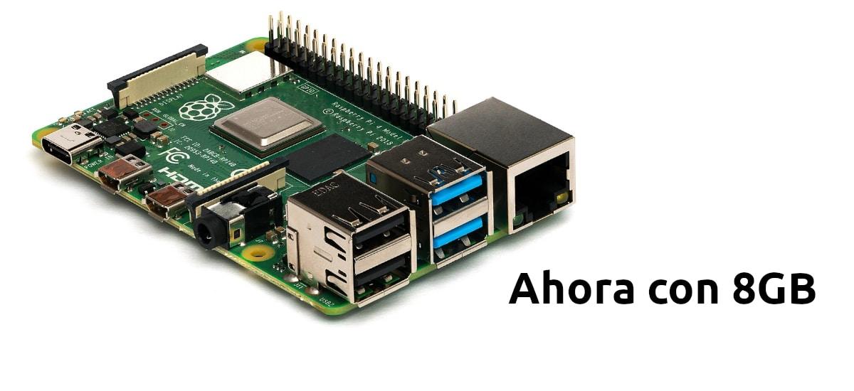 Raspberry Pi 4 con 8GB