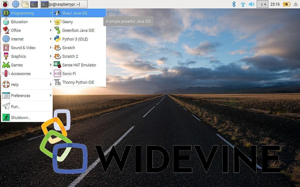 Raspberry Pi OS, Widevine visto y no visto