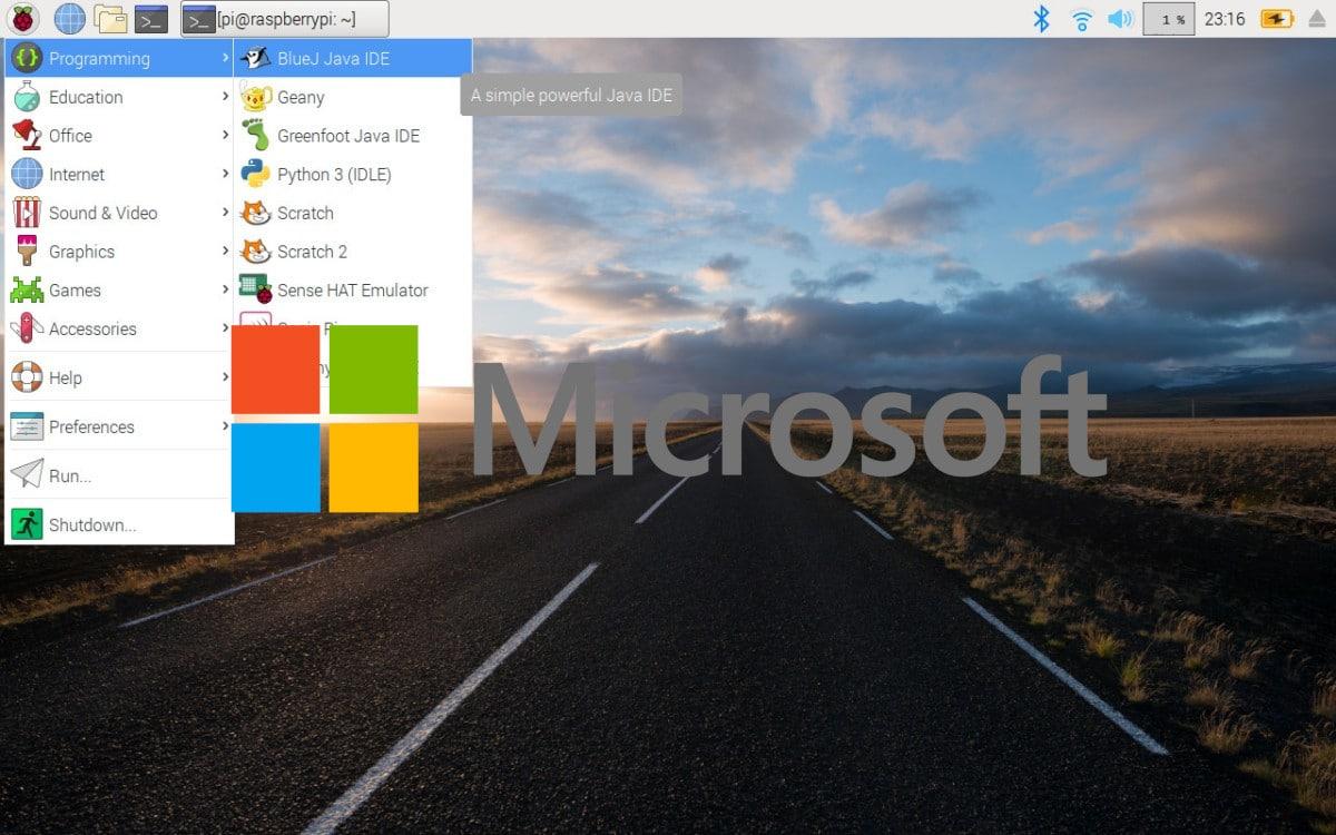 Raspberry Pi OS con Microsoft