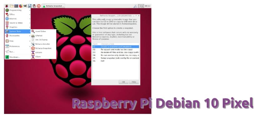 Raspbian Pixel fork