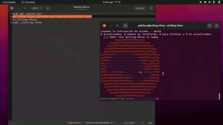Rolling Rhino, Ubuntu en version Rolling Release para desarrolladores