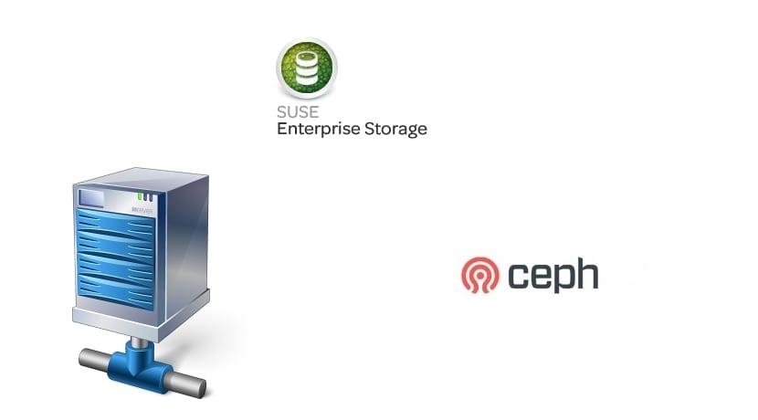 SUSE Enterprise Storage 2 y logo de Ceph