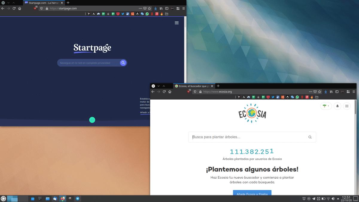 Startpage y Ecosia