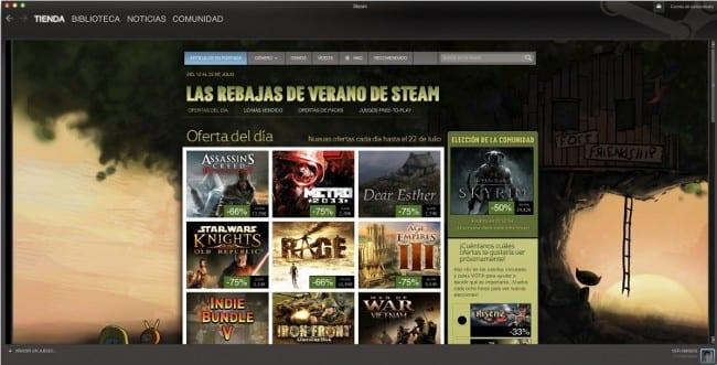 Steam estará en Linux