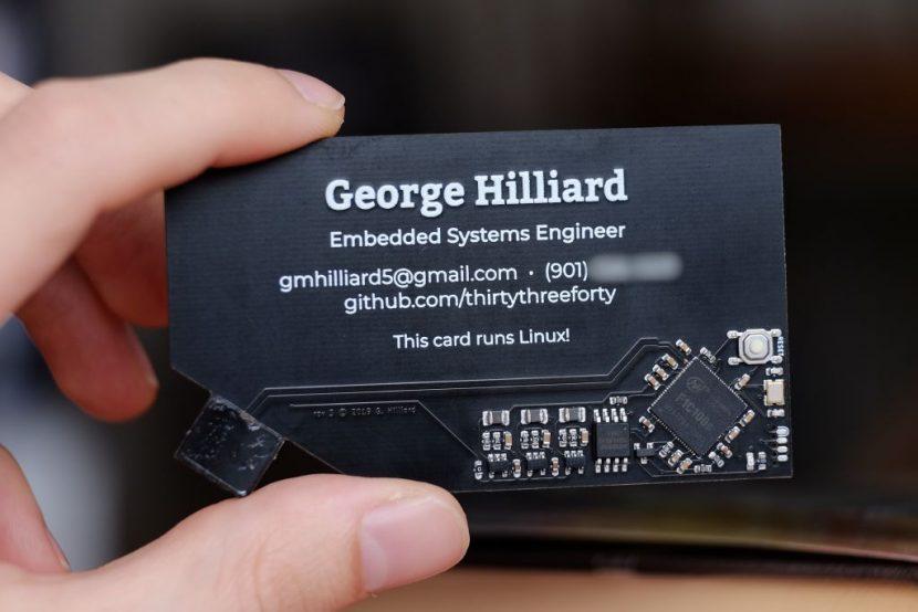 Tarjeta de George Hilliard