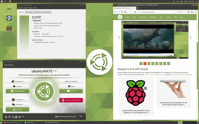 Ubuntu MATE 18.04 para Raspberry Pi