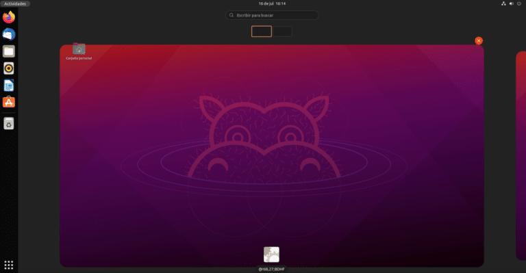 Ubuntu 21.10 con GNOME 40