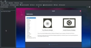 Ubuntu Budgie desde KRDC, el Remmina de Kubuntu