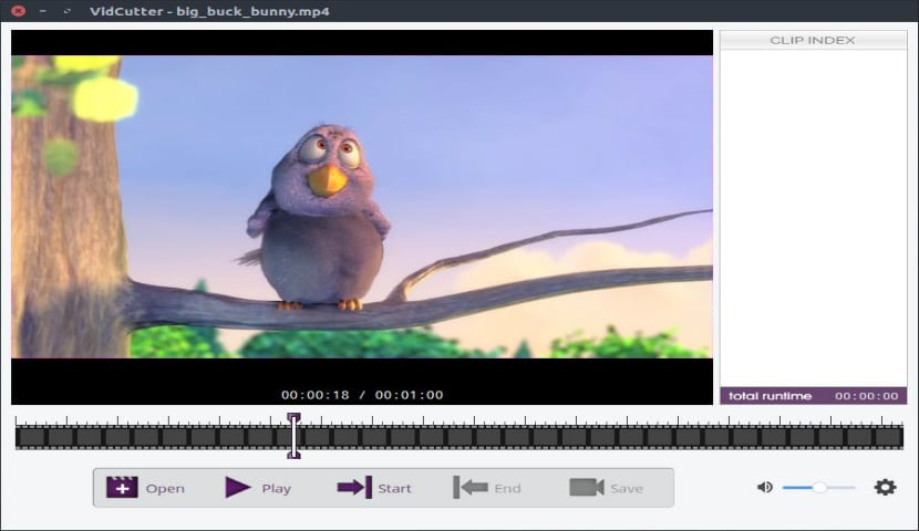 Vidcutter: captura de pantalla