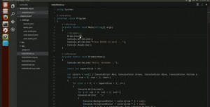 Captura de pantalla de Visual Studio Code.