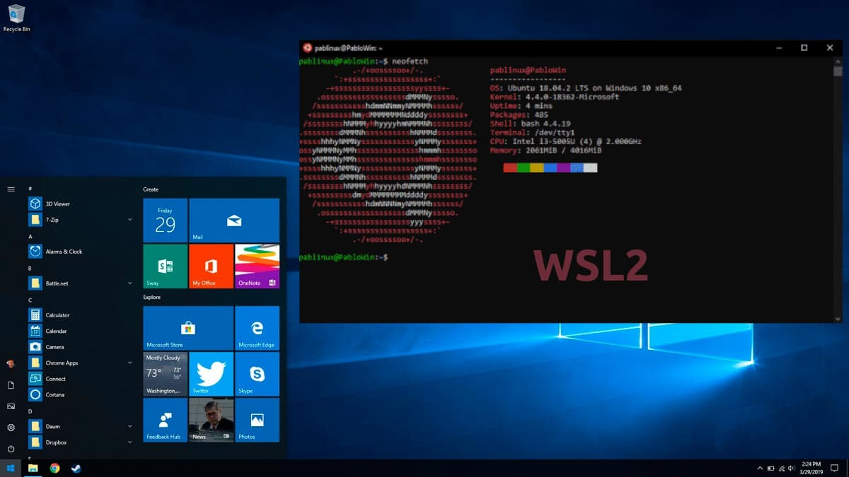 WSL2 en Windows 10