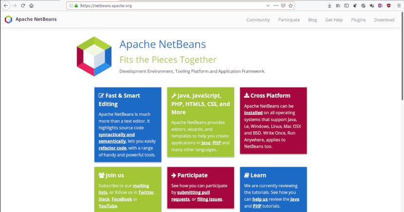 Sitio web de Apache Netbeans