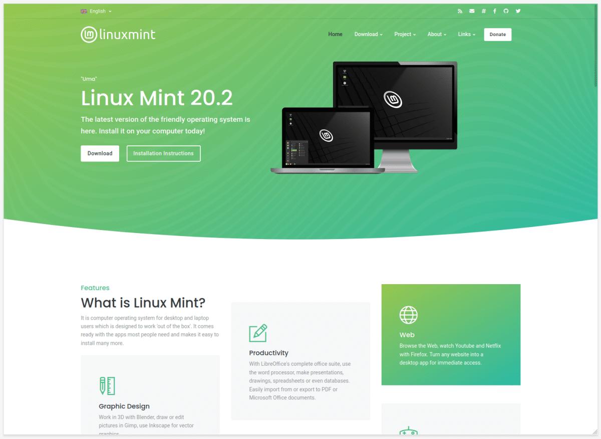 Web futura de Linux Mint