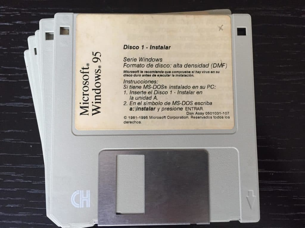windows en diskette