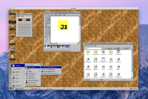 Captura de pantalla de Windows 95