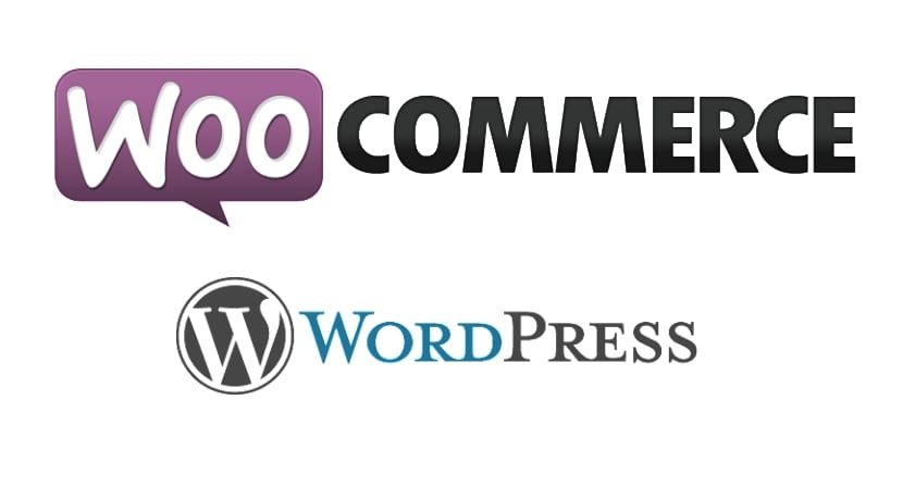 Wooocommerce logo y Wordpress logo