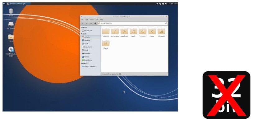 Xubuntu 19.04 sin soporte para 32bits