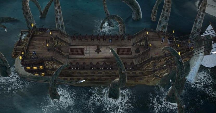 Captura pantalla kraken atacando barco