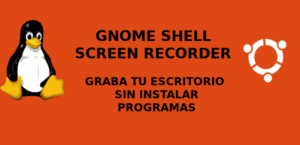 Portada de Gnome Shell Screen Recorder