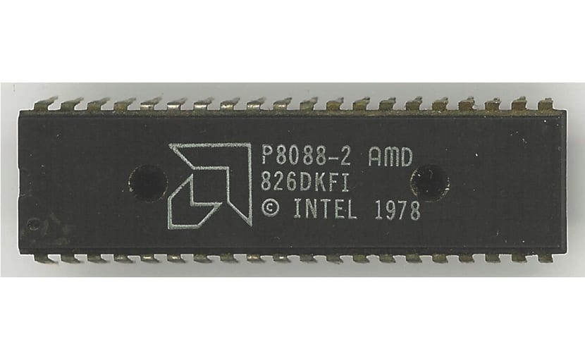 Chip Intel 8088 fabricado por AMD