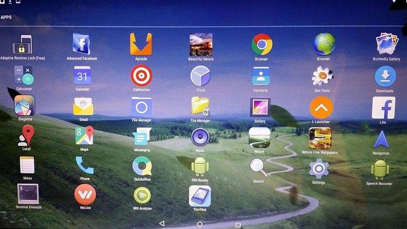 AndEX OS pantalla principal apps