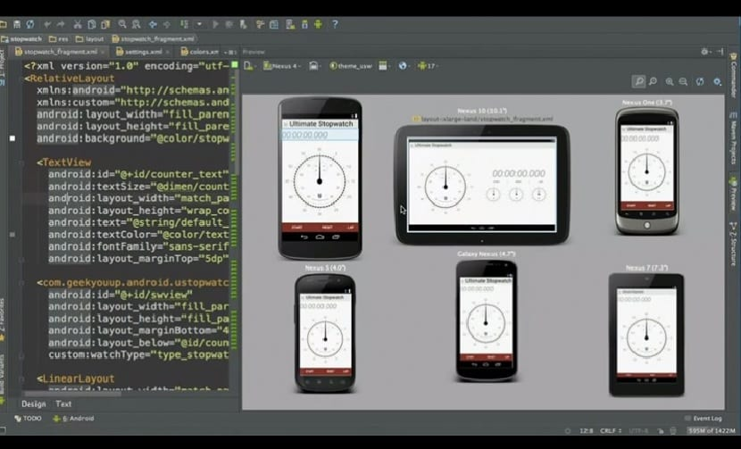 Interfaz de Android Studio 1.0
