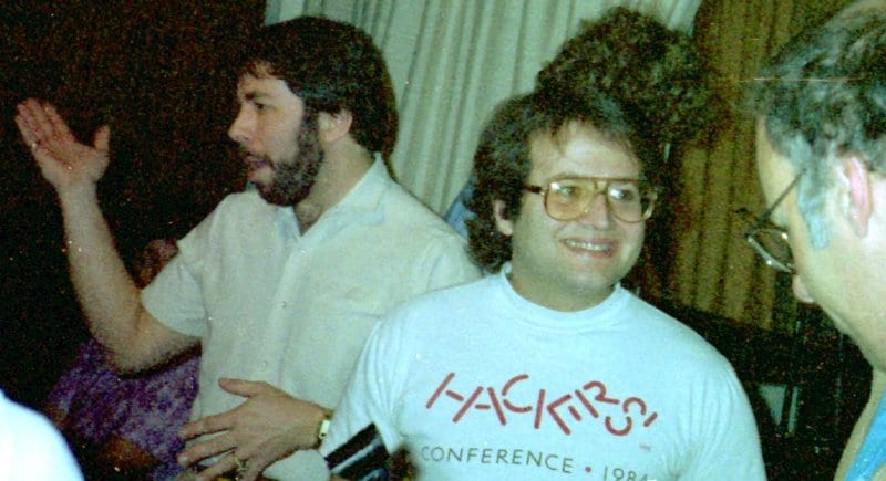 Andy junto a Steve Wozniak