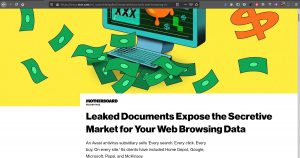 Avast vende los datos de millnes de usuarios