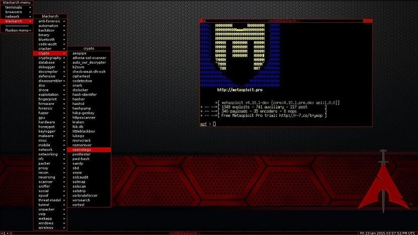 BlackArch Linux basado en ArchLinux