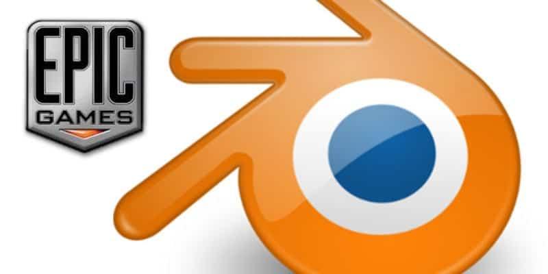 Logo de Epic Games y Blender