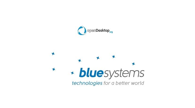 Logo de Blue Systems y OpenDesktop.org