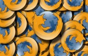 Insignias del logotipo de Mozilla Firefox