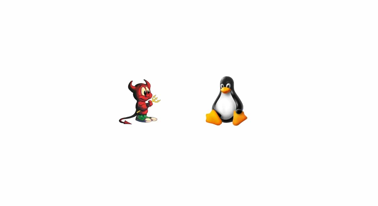 BSD y Tux Linux logo