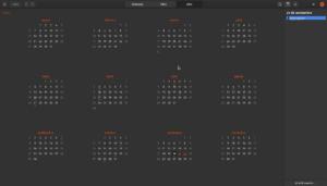 Aplicación Calendarios de GNOME.