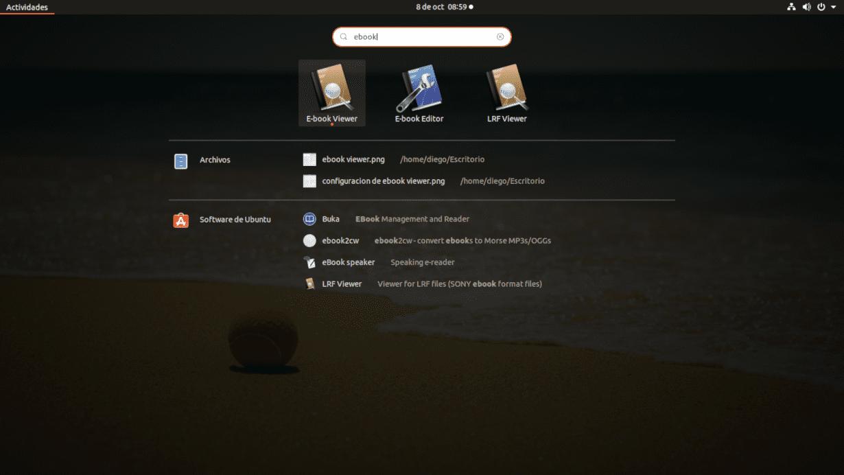 visor de ebooks de Calibre