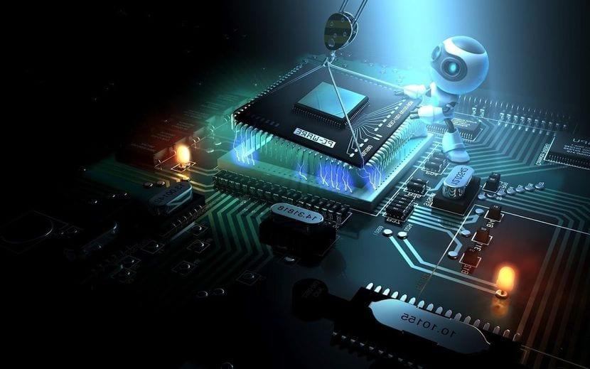robot sustituyendo cpu
