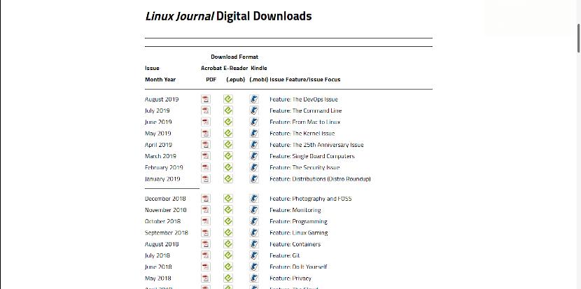 El catálogo de Linux Journal seguirá disponible por dos semanas