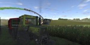 Tractor trabajando: captura del videojuego