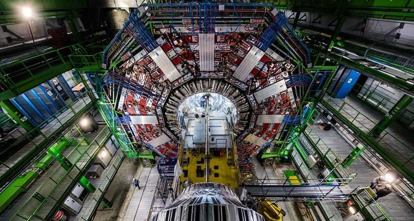 Una parte del acelerador del CERN