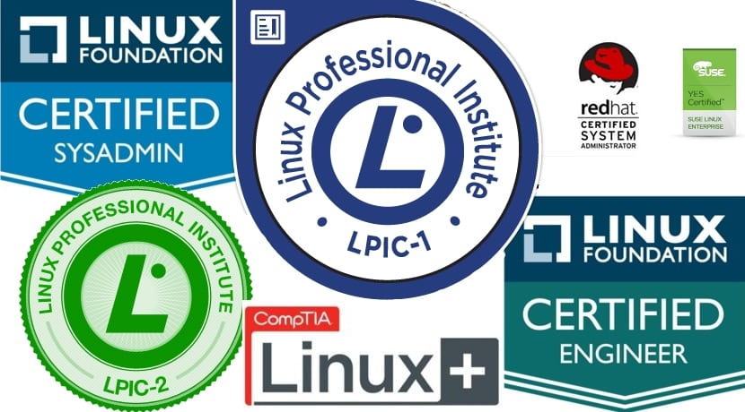 Logos de certificaciones Linux
