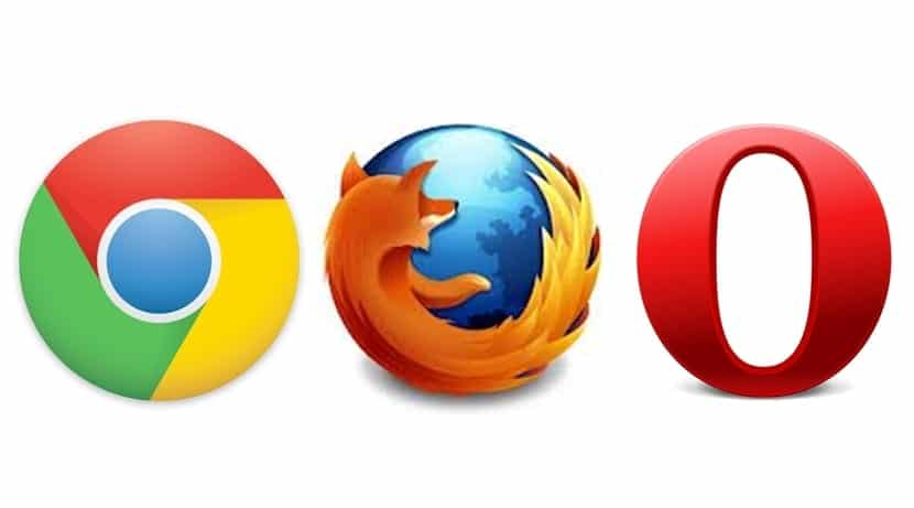 Chrome, Firefox, Opera