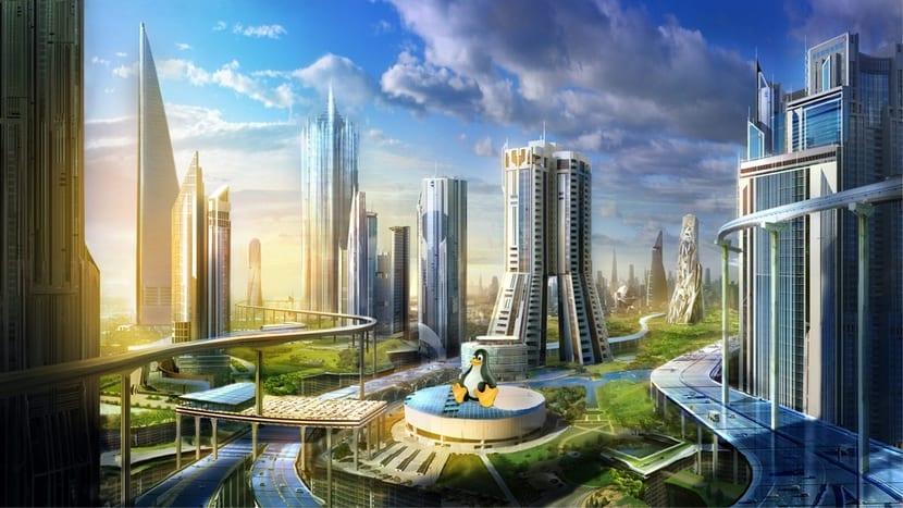 CIP Linux Foundation: ciudad del futuro y Tux
