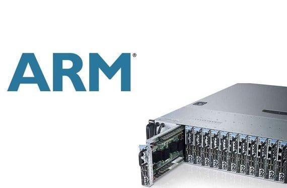 Servidor y logo de ARM
