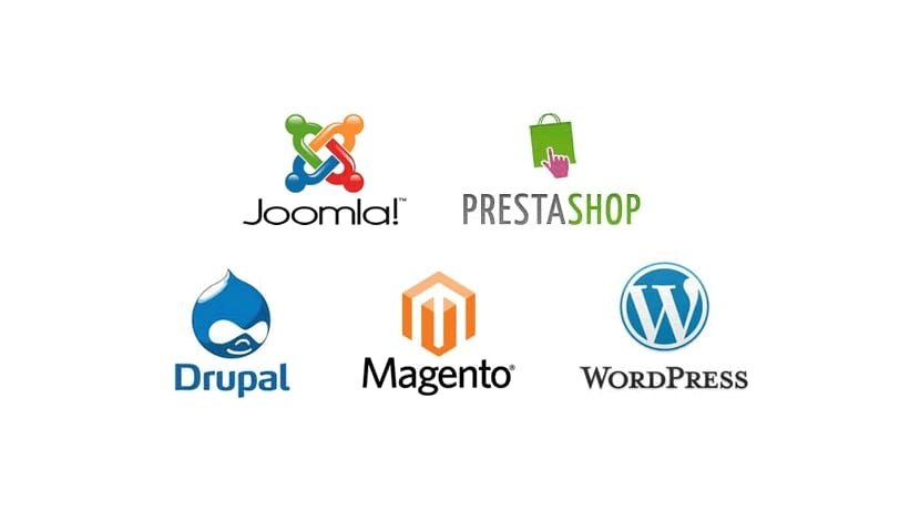 Logos de diferentes CMSs