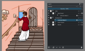 Imagen de demostración de Krita 4.0