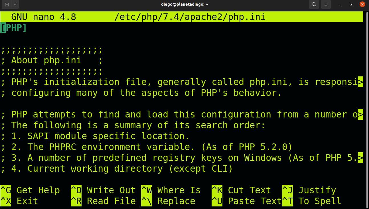 Configurando MariaDB y php